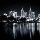 Twilight over The Yarra River by Shari Mattox