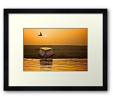 Dawn on the Ganga Framed Print