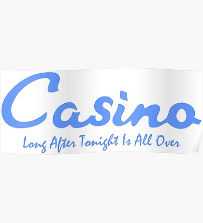 """Northern Soul Casino """"Long after the night is over"""" Poster"""