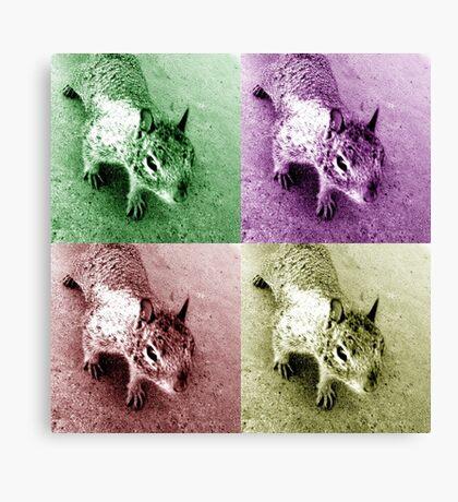 Monochrome Squirrel Clones Canvas Print