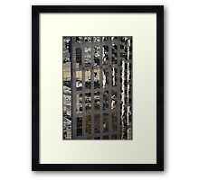 Tower Reflections, Vancouver, Canada Framed Print