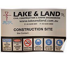 Lake and Land Pty Ltd Poster