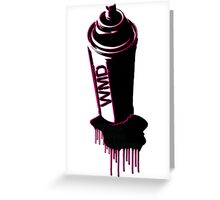 Spray paint graffiti red Greeting Card
