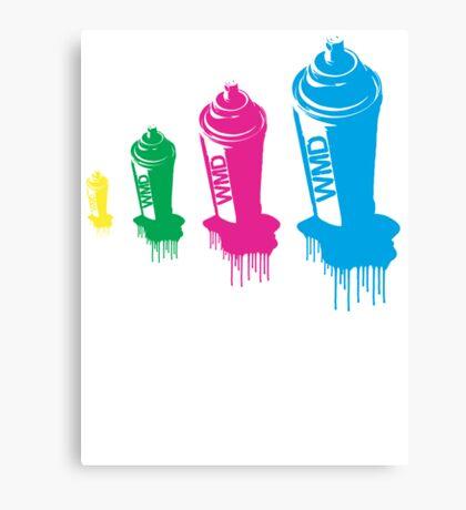 Spray paint graffiti babushka 1  Canvas Print