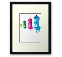 Spray paint graffiti babushka 2 Framed Print