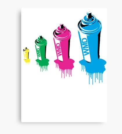 Spray paint graffiti babushka 2 Canvas Print