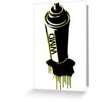 Spray paint graffiti yellow Greeting Card