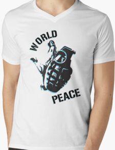 World Peace Mens V-Neck T-Shirt