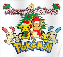 Pokemon christmas Poster
