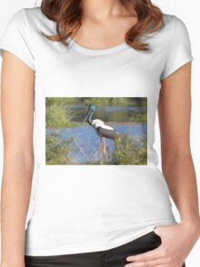 The Lone Stork Women's Fitted Scoop T-Shirt
