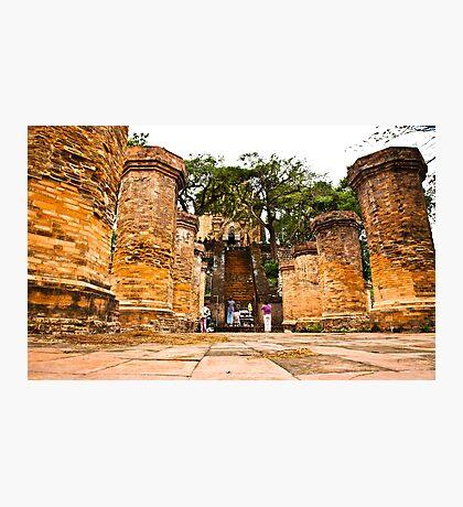 Po Nagar Cham Tower ruins - Nha Trang Vietnam Photographic Print