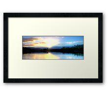 Wingham Brush Sunrise Framed Print