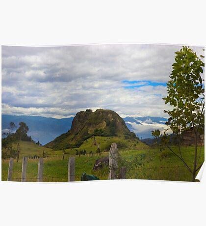 A View Near San Fernando, Ecuador Poster