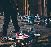 Jordan Sneakers On Fire by deauwp
