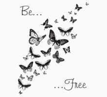Be Free (Black) Baby Tee