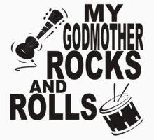 My Godmother Rocks And Rolls Kids Tee