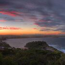 Manly Sunset Panoramic 1 by Paul Duckett