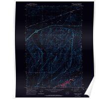 USGS Topo Map Washington State WA Karakul Hills 241736 1964 24000 Inverted Poster