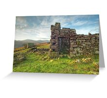 Peat Shelter Greeting Card