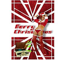 Dancin' Sexy Santa Girl Photographic Print
