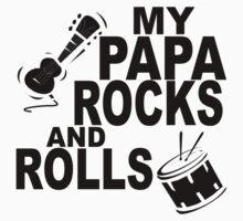My Papa Rocks And Rolls One Piece - Long Sleeve
