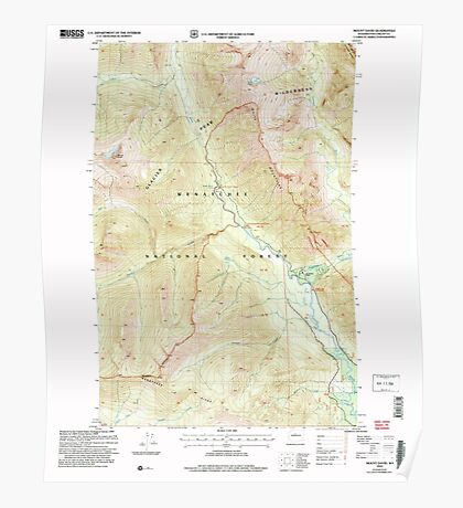 USGS Topo Map Washington State WA Mount David 242491 2004 24000 Poster