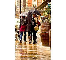 Ladies in the Rain Photographic Print