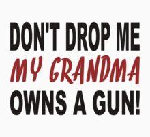 My Grandma Owns A Gun Kids Tee