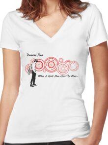 Drwho galigrafics Women's Fitted V-Neck T-Shirt
