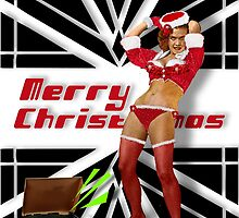 Dancin' Sexy Santa Girl (Black Background) by PrivateVices