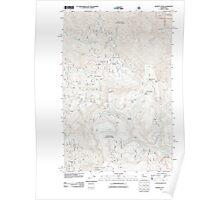 USGS Topo Map Washington State WA Blewett Pass 20110606 TM Poster