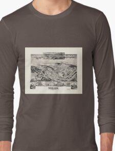 Panoramic Maps Midland Maryland Long Sleeve T-Shirt