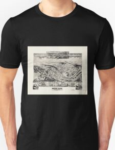 Panoramic Maps Midland Maryland Unisex T-Shirt