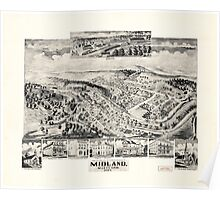 Panoramic Maps Midland Maryland Poster