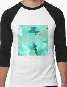 Caribbean Green Abstract Low Polygon Background T-Shirt