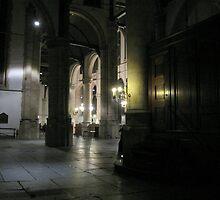 Inside the 'St. Janskerk' Gouda by Hans Bax