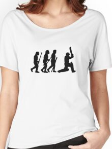 evolution of cricket Women's Relaxed Fit T-Shirt