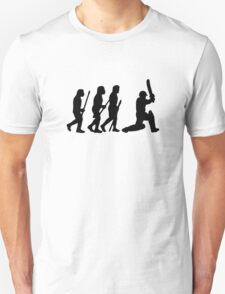evolution of cricket Unisex T-Shirt