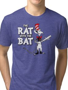 The Rat With The Bat Tri-blend T-Shirt