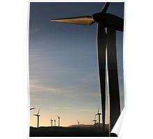 Windfarm In Scotland Poster