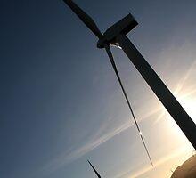 Scottish Windfarm at Sunset by GuyHinksPhoto