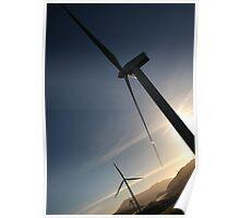 Scottish Windfarm at Sunset Poster