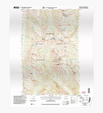 USGS Topo Map Washington State WA Mount Lago 242501 2002 24000 Poster