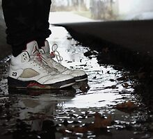 Jordan Sneakers In Water by deauwp