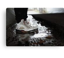 Jordan Sneakers In Water Canvas Print