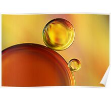 Abstract Oil Drops Poster