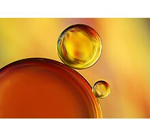 Abstract Oil Drops Photographic Print
