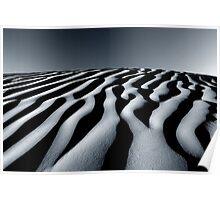 Sand dunes in Tunisia Poster