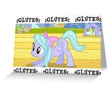 OG GLUTES Greeting Card