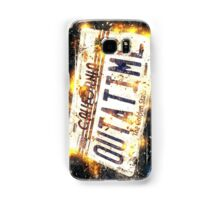 Back To The Future Licence Plate Samsung Galaxy Case/Skin